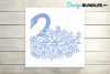 Swan paper cut design example image 4