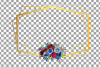 Watercolor elegant floral borders clip art. Wedding frames example image 7