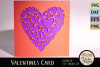 Valentine Hearts Card SVG - Love SVG Cutting File example image 2