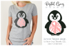 Breast cancer survivor, Penguin SVG / DXF / EPS / PNG files example image 1