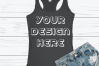 Anvil 6751L Racerback Tank Mockups with Background - 6 example image 2