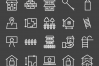 50 Housing Line Inverted Icons example image 2