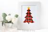 Red Buffalo Plaid Christmas Trees Sayings Sublimation Bundle example image 3