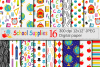 Back to School Digital paper / School Supplies pattern / School Background / Teacher Printable paper example image 1