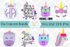 Unicorn SVG Bundle example image 1