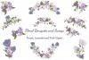 Purple Flowers Sublimation Clipart Bundle Wedding Floral example image 1