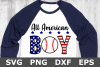All American Boy - A Sports SVG Cut File example image 2