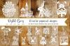 Easter / Rabbit paper cut Bundle SVG / DXF / EPS / PNG files example image 1