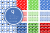 Graduation Seamless Patterns - Vector files - Background example image 3