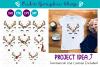 Reindeer Face Svg, Reindeer Svg, Christmas Svg, Deer Svg example image 1