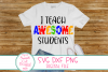 I Teach Awesome Students SVG, Autism,Teacher,School,Sayings example image 1