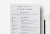 Resume Template Minimalist   CV Template Word - Melanie example image 1