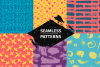 Set funny seamless patterns  example image 1