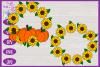 Sunflower Monogram SVG | Autumn SVG | Fall SVG | Monogram example image 3