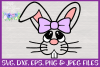 Girl Bunny Face SVG - Easter Basket Design example image 3