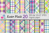 Easter Plaid Digital Paper / Spring Pastel Plaid Pattern example image 1