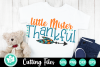 Little Mister Thankful - A Thanksgiving SVG Cut File example image 1