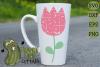 Plaid & Grunge Tulip SVG Cut File example image 2