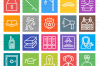50 Law & Order Line Multicolor B/G Icons example image 2