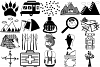 Camping Doodles & Silhouettes Mega Bundle AI EPS PNG example image 4