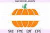 Pumpkin Split Monogram Fall SVG PNG DXF EPS Cut File example image 1