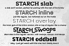 STARCH: previews of fonts 6-10