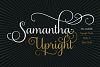 Samantha Script Upright example image 1