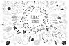 450 handsketched elements. Nature mega pack example image 8