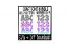 SVG Font Bundle * Polka Dot * Mermaid * Chevron Cut File example image 1