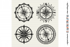 Set of 4 RETRO COMPASSES|SVG DXF EPS PNG files for crafters example image 2