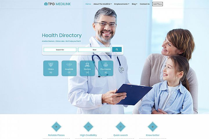 TPG Medilink Hospital WordPress theme
