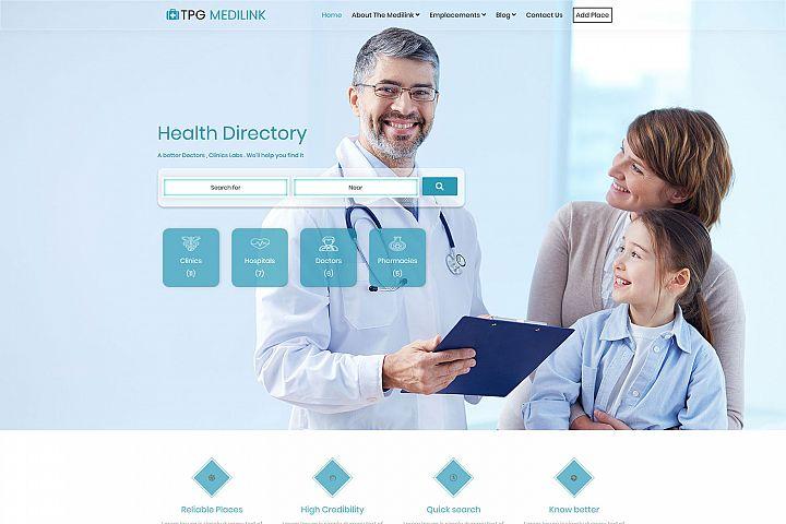 TPG Medilink Hospital WordPress theme