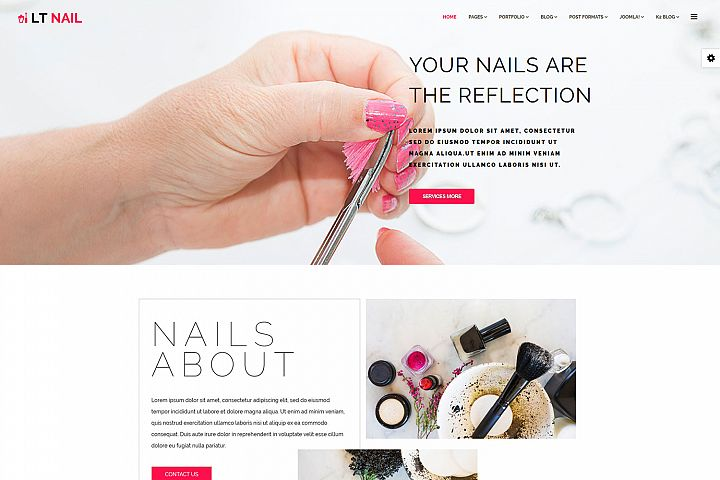 LT Nail - Responsive Premium Private Joomla Salon Template