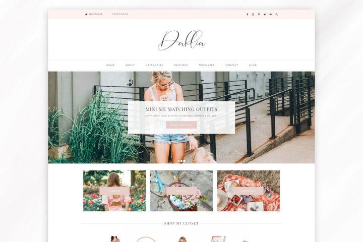 Responsive WordPress Theme for Blogs - Dahlia