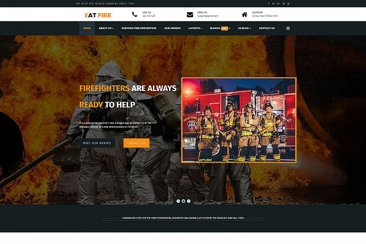 AT Fire Professional Firefighter Website template