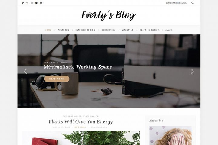Everly Hipster WordPress Blog Theme