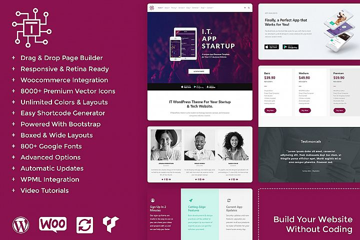 IT - Startup WordPress Theme