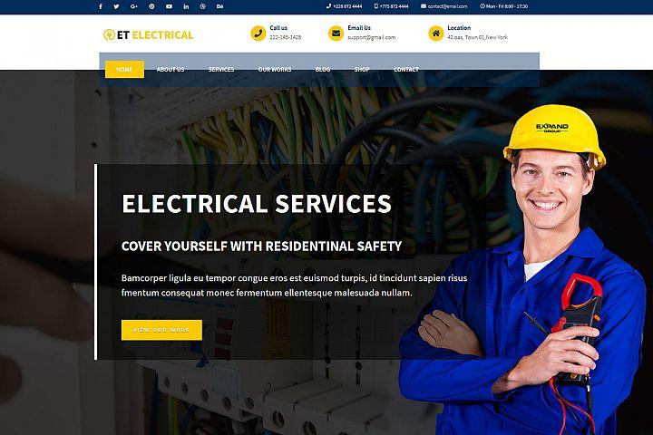 ET Electrical Responsive WordPress Electrical theme