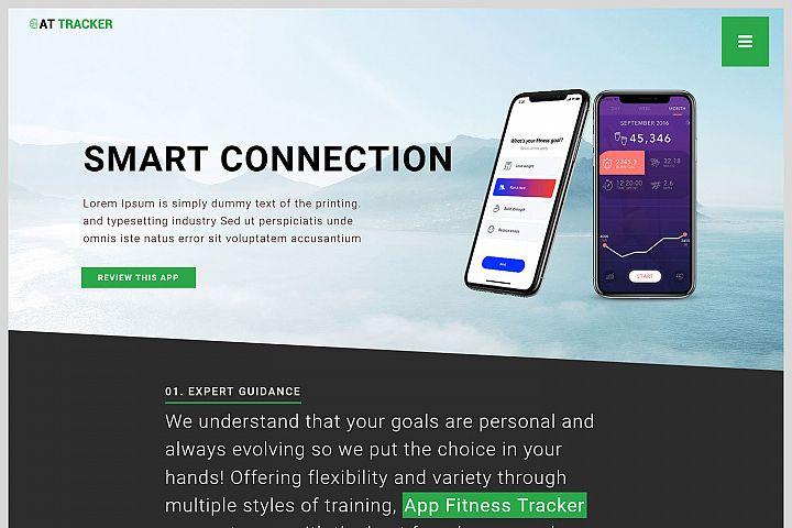 AT Tracker Responsive App Joomla Template