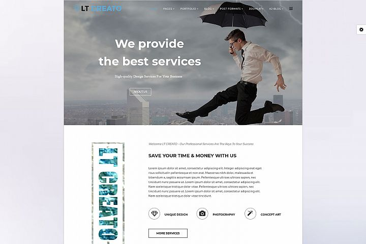 LT Creato - Premium Joomla Creative Design template