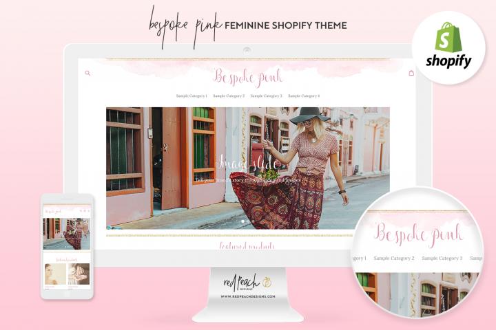 Bespoke Pink Feminine Responsive Shopify Theme