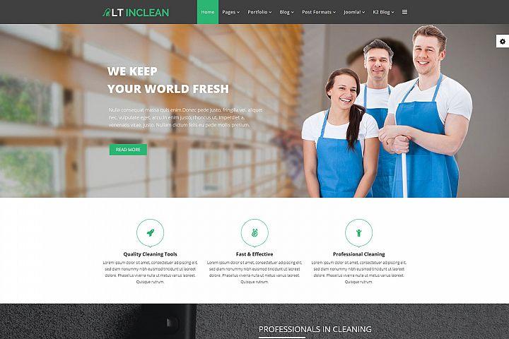 LT Inclean - Premium Joomla Cleaning Service Template