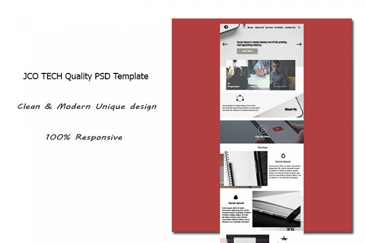 JCO TECH Quality PSD Template