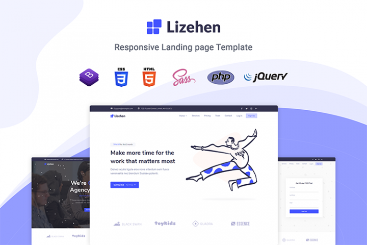 Lizehen - Landing Page Template