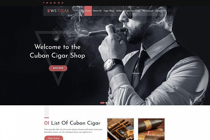 WS Cigar Special Cigar Shop Woocommerce WordPress theme