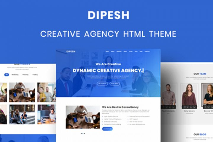 Dipesh - Creative Agency HTML Template