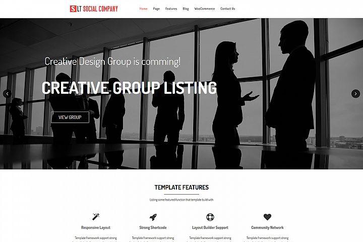 LT Social Company - Premium Social Company WordPress Theme