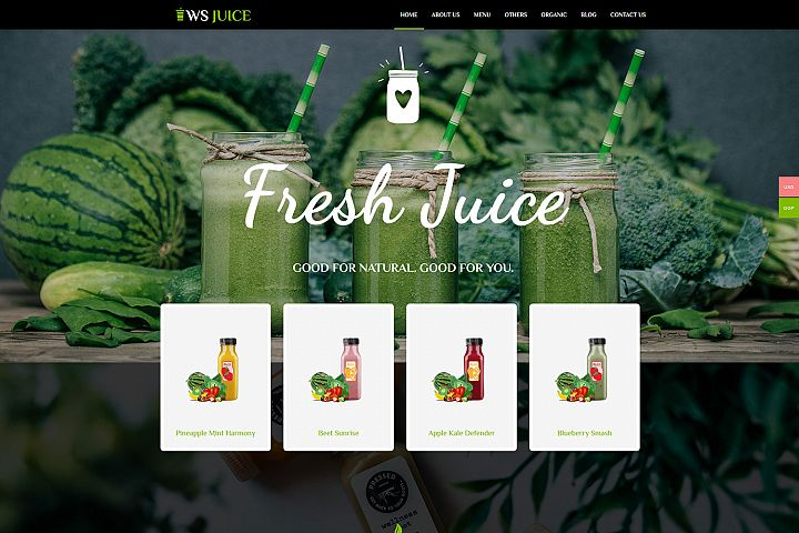 WS Juice Responsive Smoothie Website Template