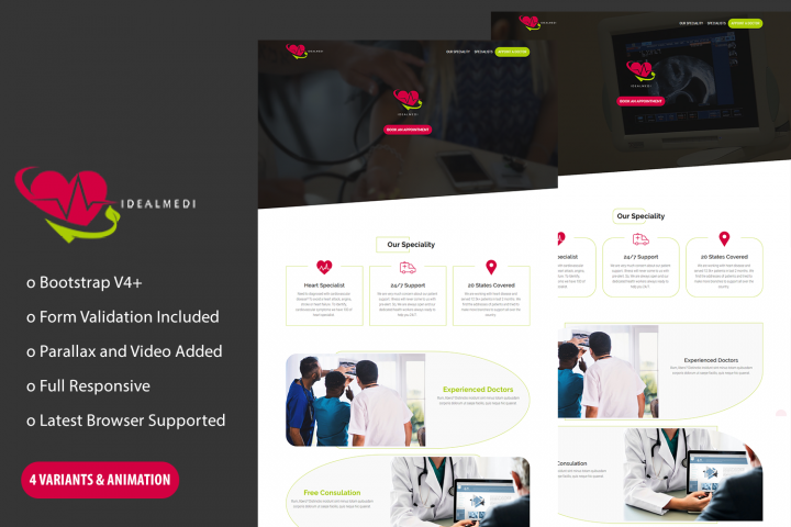 IdealMedi- Medical Landing Page HTML Template