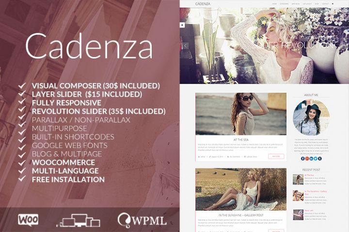 Cadenza - Elegant WordPress Blog Theme